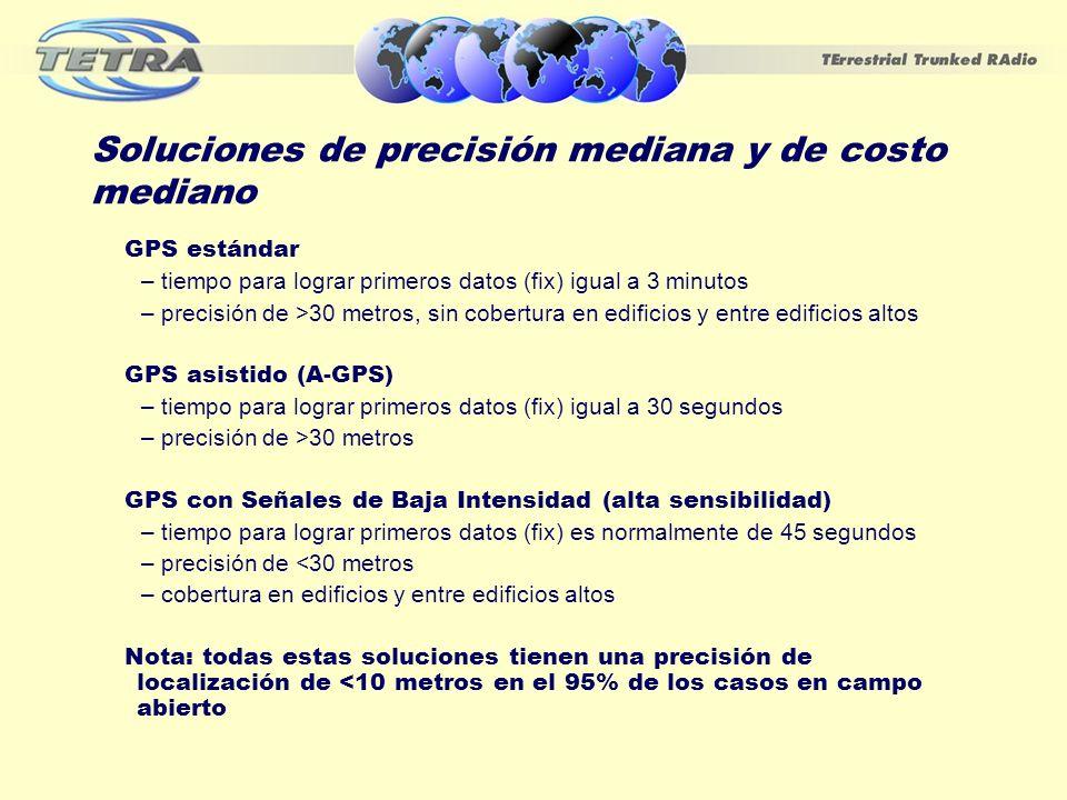 Soluciones de precisión mediana y de costo mediano