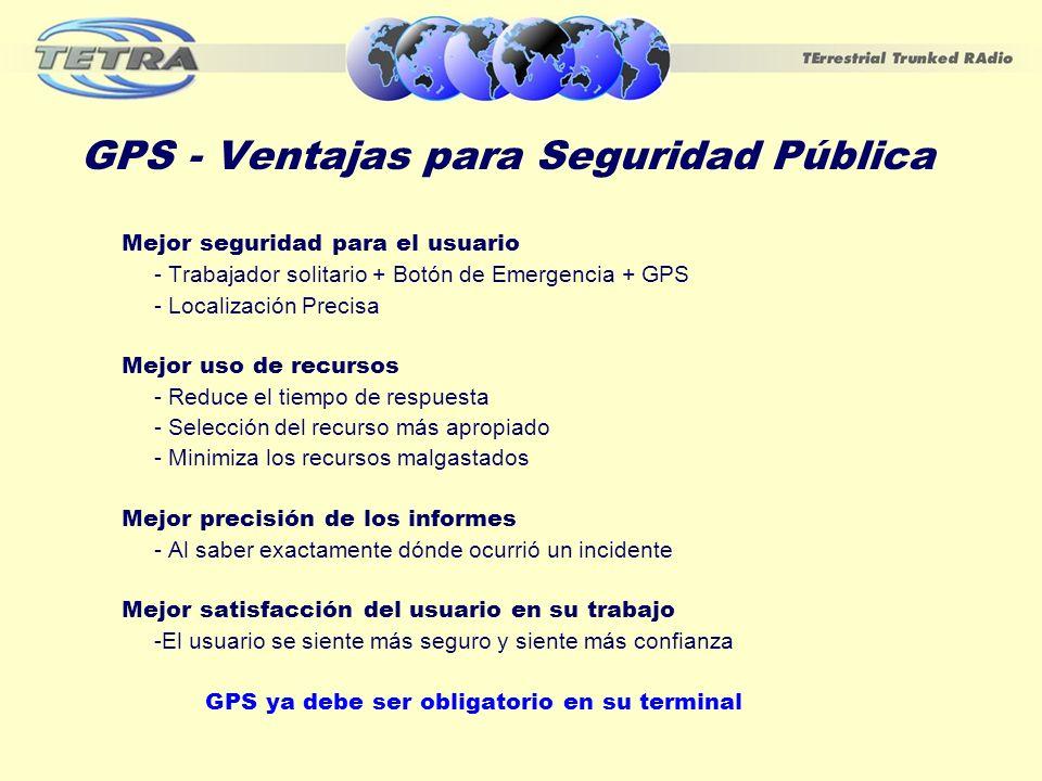 GPS - Ventajas para Seguridad Pública