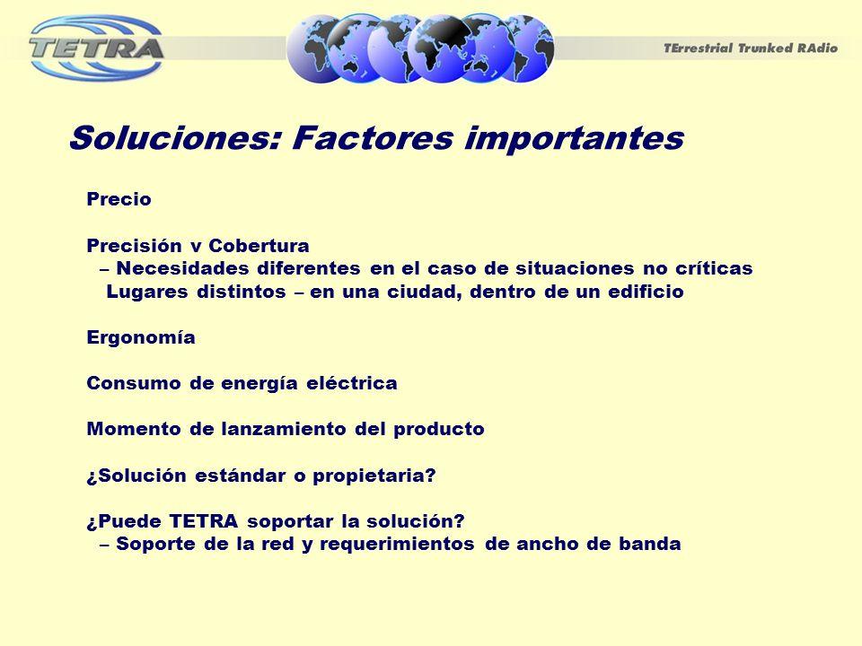 Soluciones: Factores importantes