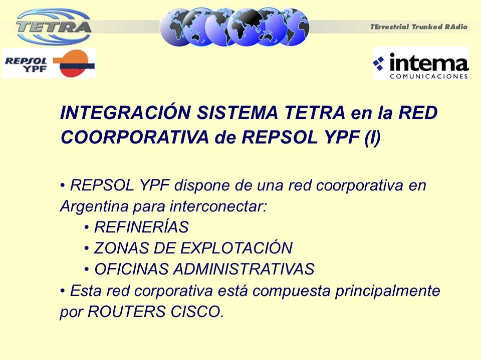 INTEGRACIÓN SISTEMA TETRA en la RED COORPORATIVA de REPSOL YPF (I)