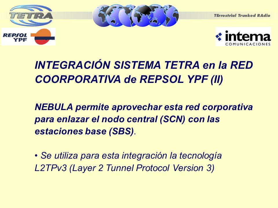 INTEGRACIÓN SISTEMA TETRA en la RED COORPORATIVA de REPSOL YPF (II)