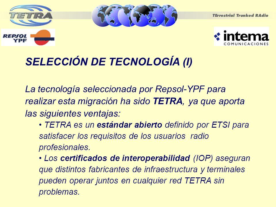 SELECCIÓN DE TECNOLOGÍA (I)