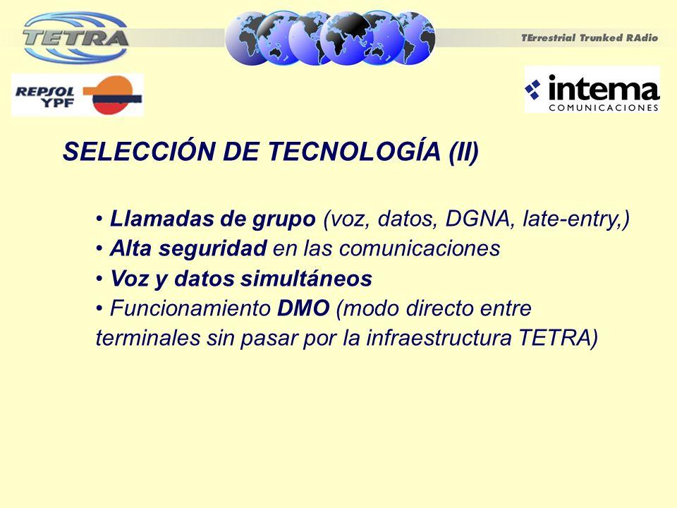 SELECCIÓN DE TECNOLOGÍA (II)