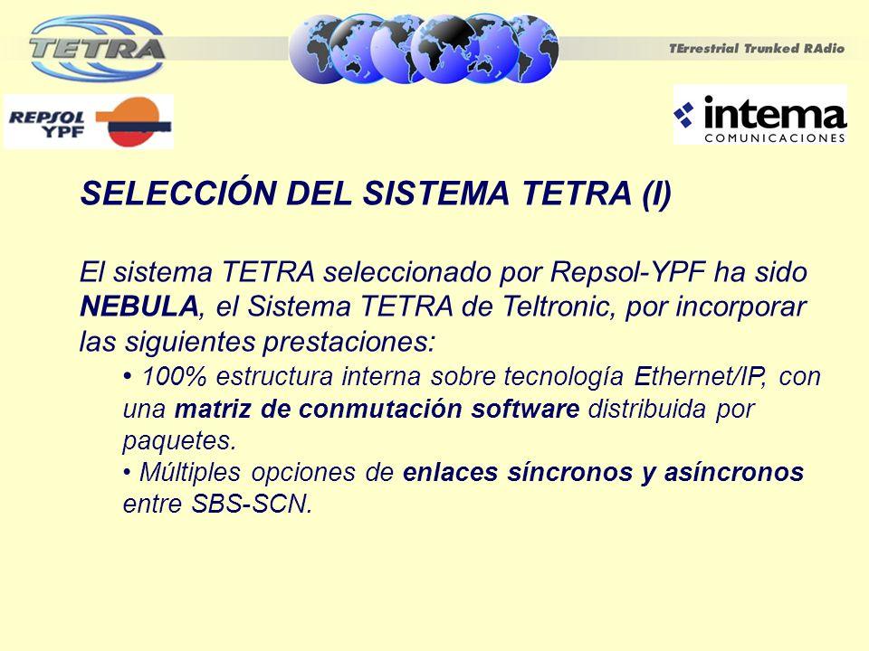 SELECCIÓN DEL SISTEMA TETRA (I)