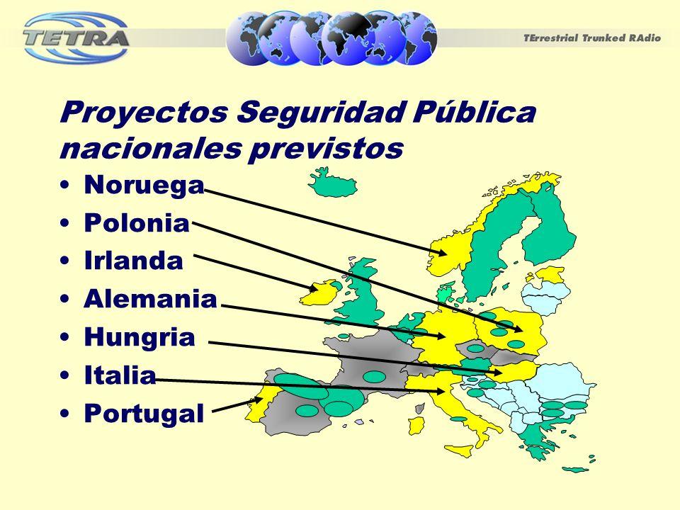 Proyectos Seguridad Pública nacionales previstos
