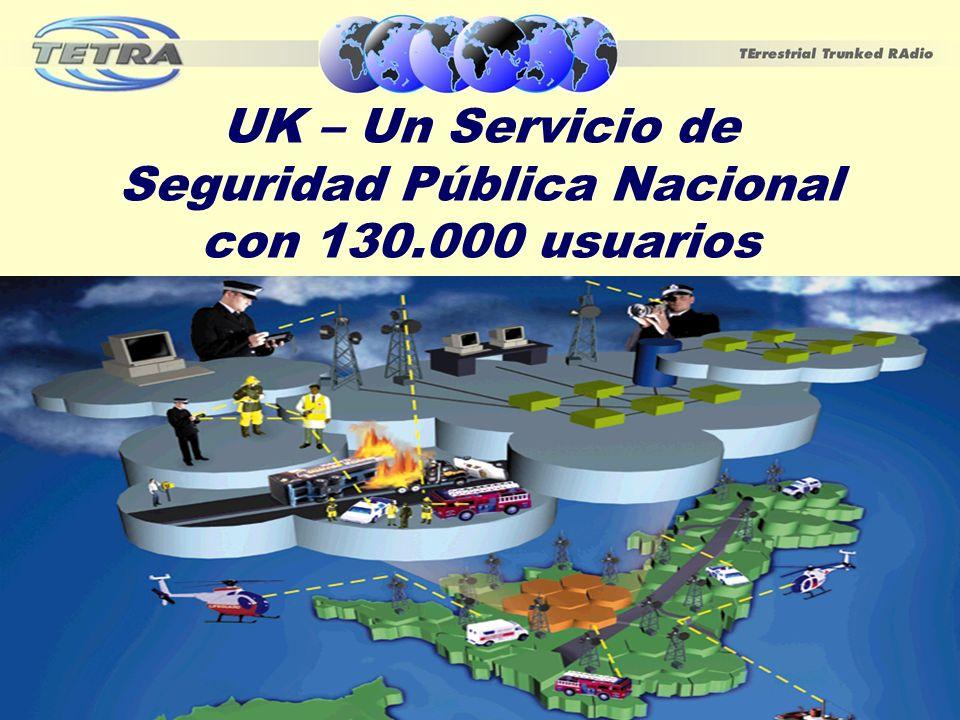 UK – Un Servicio de Seguridad Pública Nacional con 130.000 usuarios