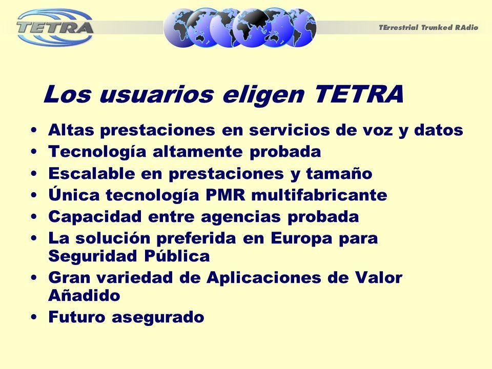 Los usuarios eligen TETRA
