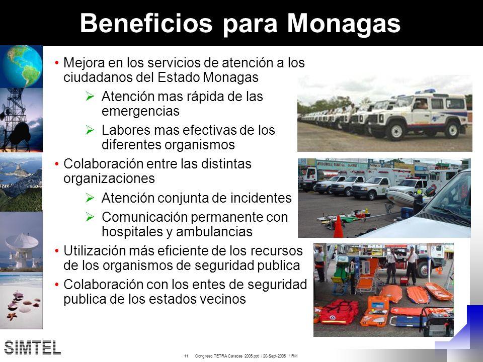 Beneficios para Monagas