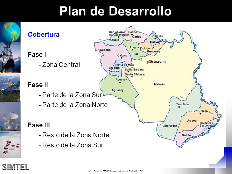 Plan de Desarrollo Cobertura Fase I - Zona Central Fase II