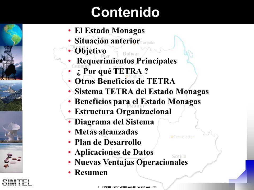 Contenido El Estado Monagas Situación anterior Objetivo