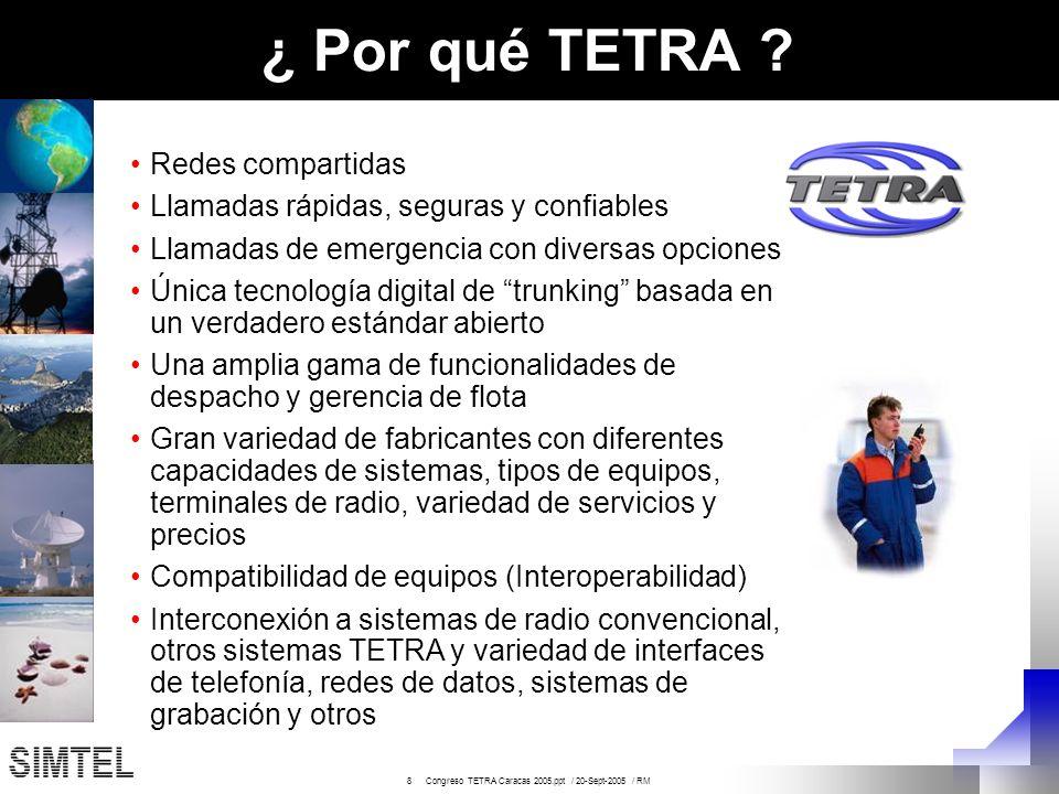 ¿ Por qué TETRA Redes compartidas