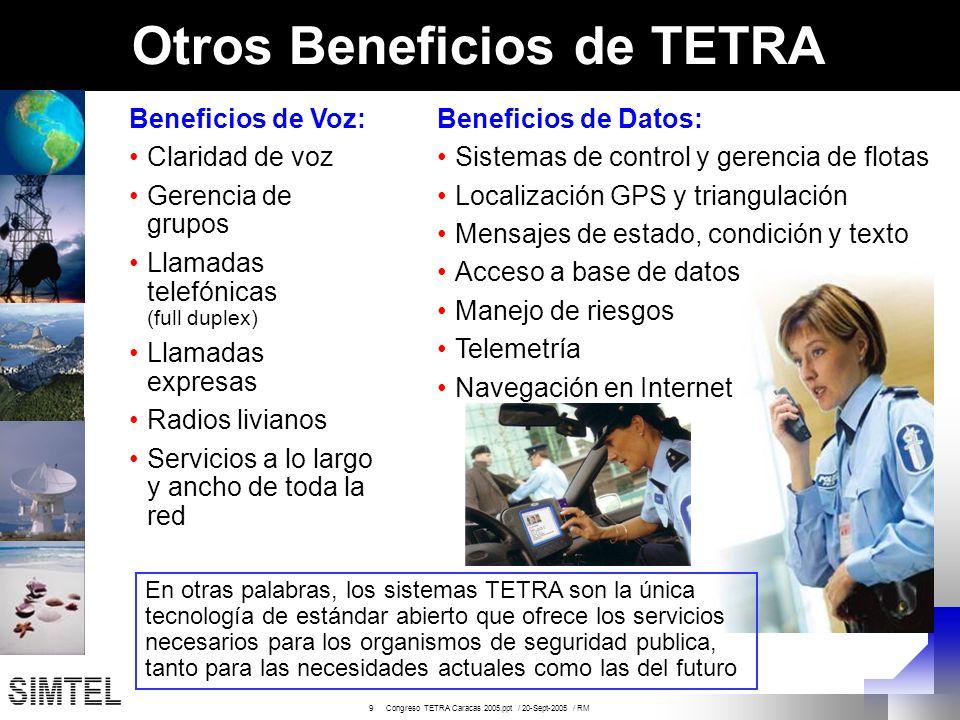 Otros Beneficios de TETRA