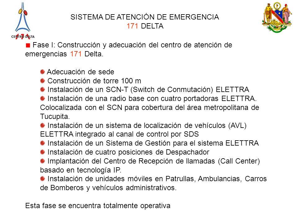 Fase I: Construcción y adecuación del centro de atención de emergencias 171 Delta.