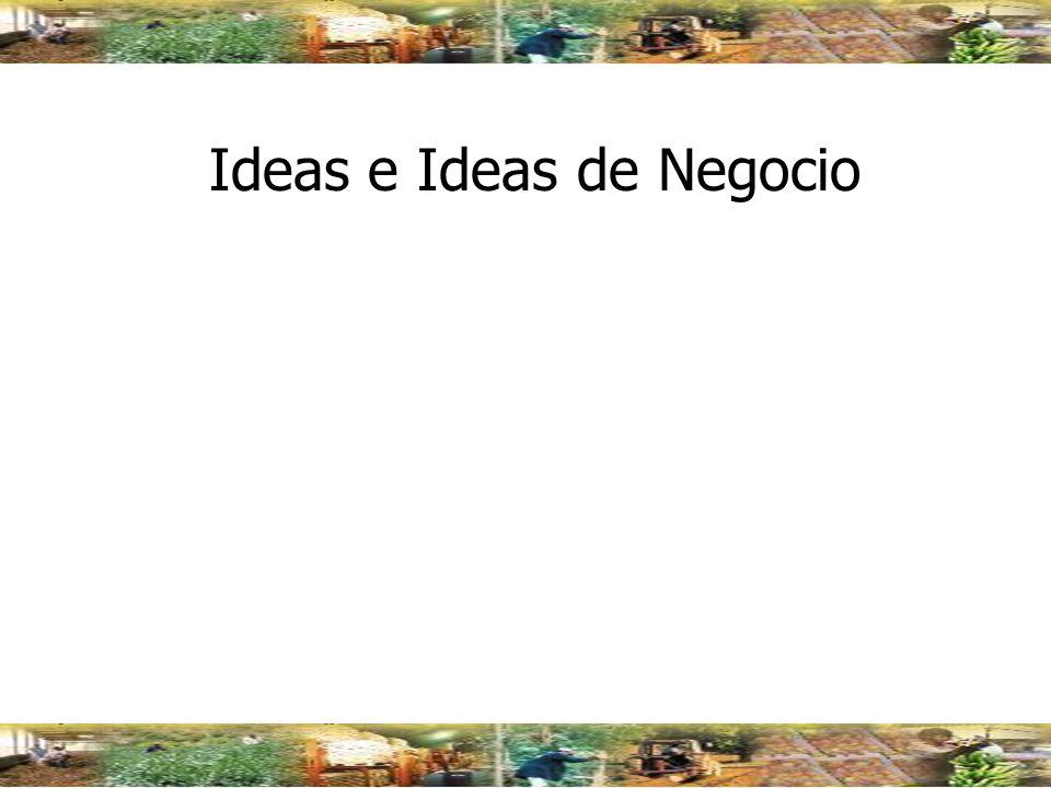 Ideas e Ideas de Negocio