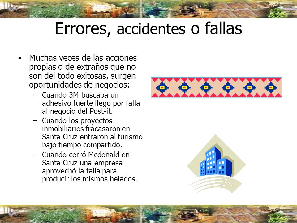 Errores, accidentes o fallas