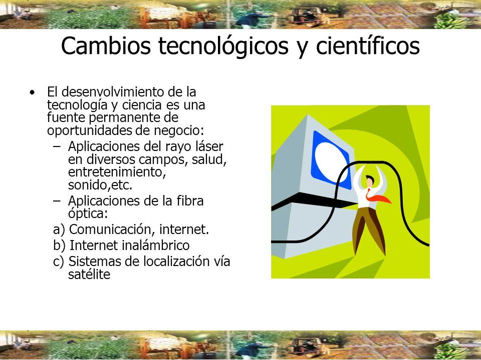 Cambios tecnológicos y científicos