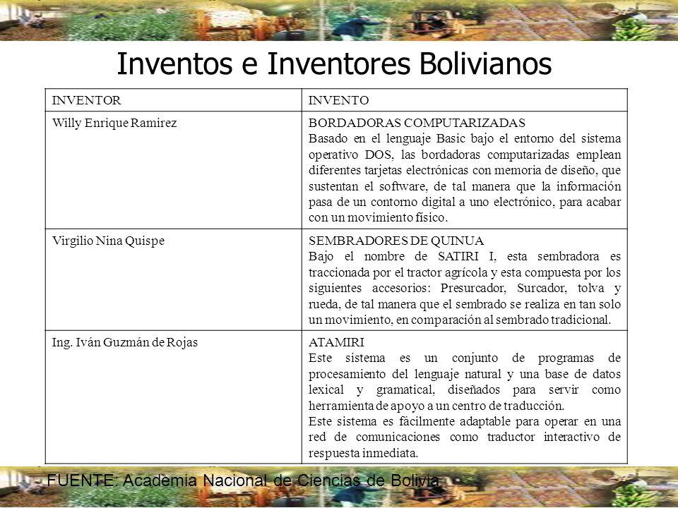 Inventos e Inventores Bolivianos