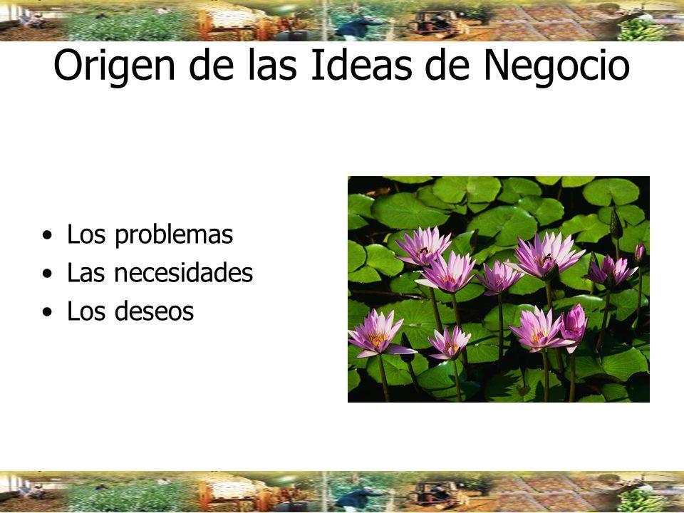 Origen de las Ideas de Negocio