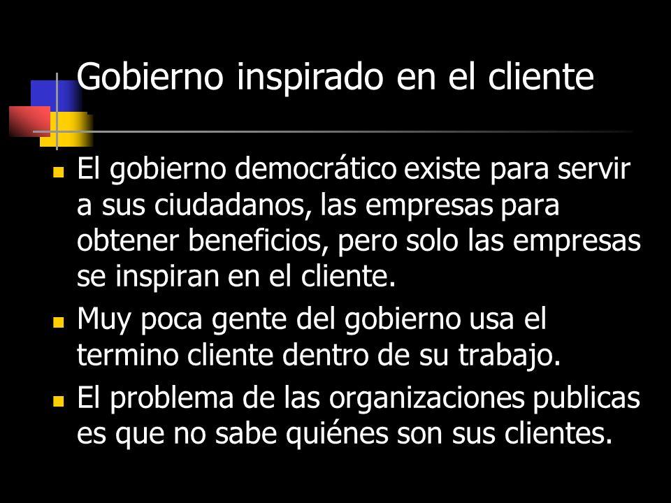 Gobierno inspirado en el cliente