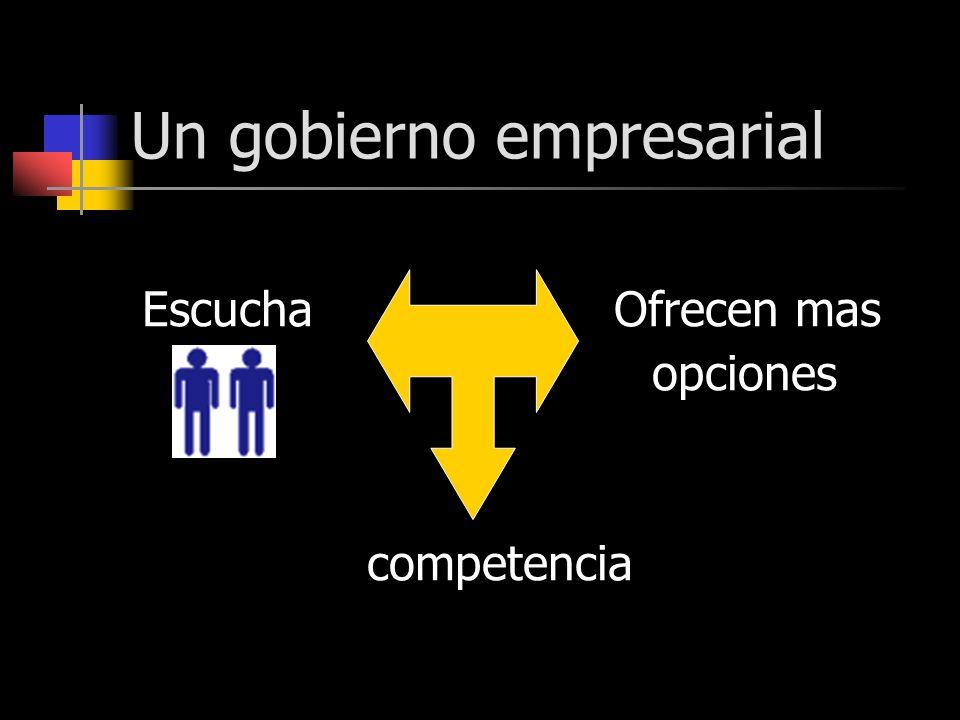 Un gobierno empresarial