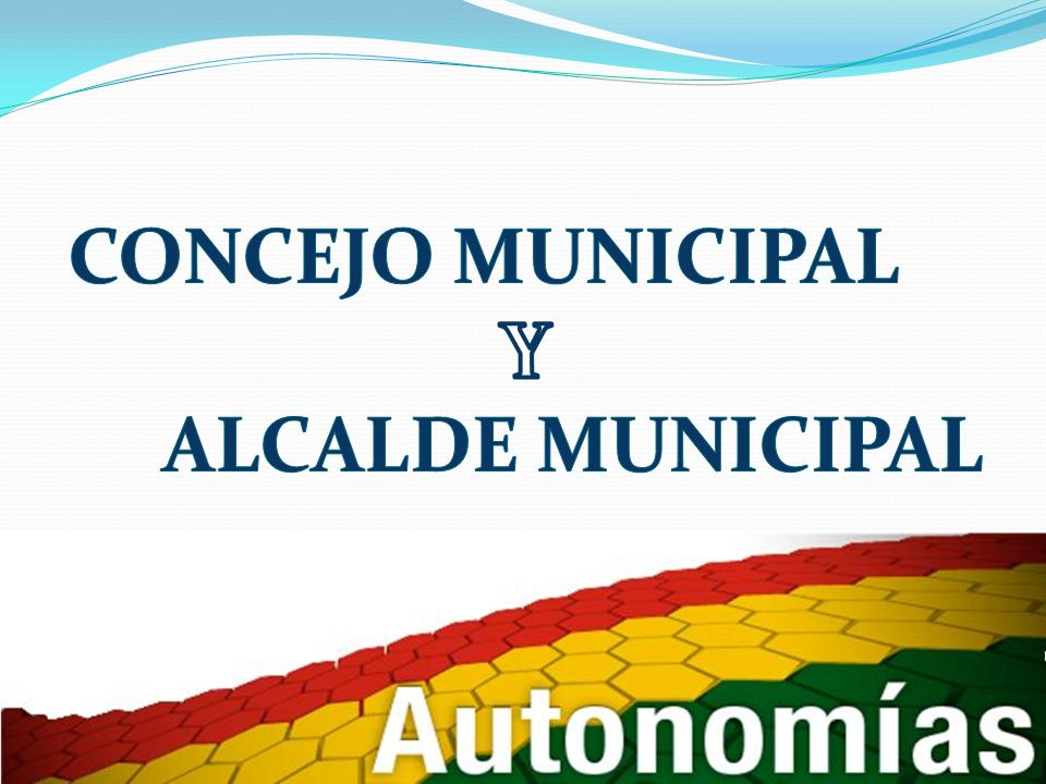 CONCEJO MUNICIPAL Y ALCALDE MUNICIPAL