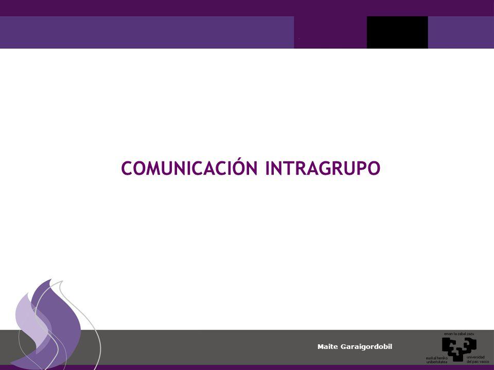 COMUNICACIÓN INTRAGRUPO