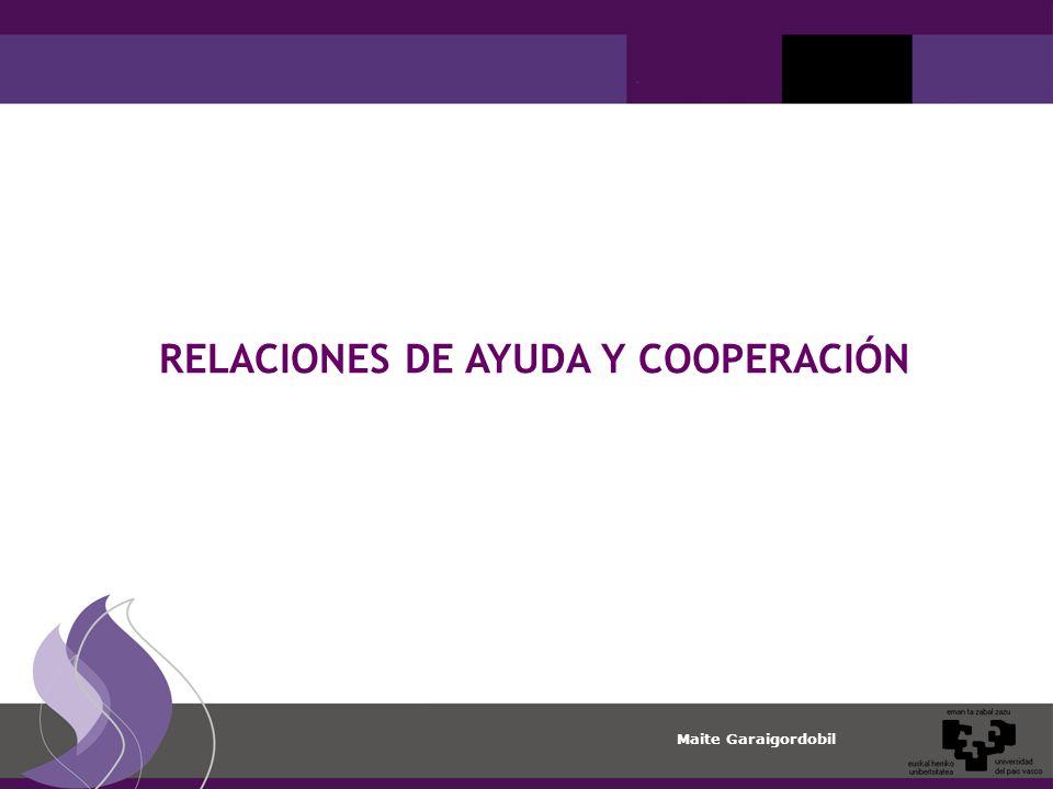 RELACIONES DE AYUDA Y COOPERACIÓN