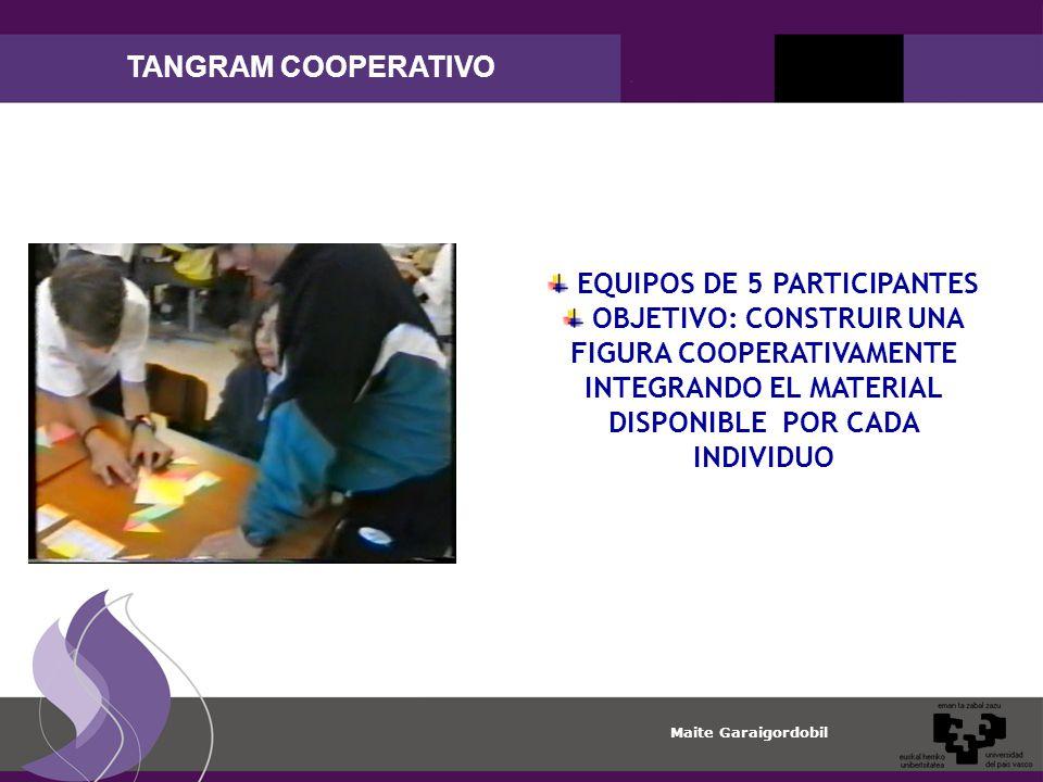 EQUIPOS DE 5 PARTICIPANTES