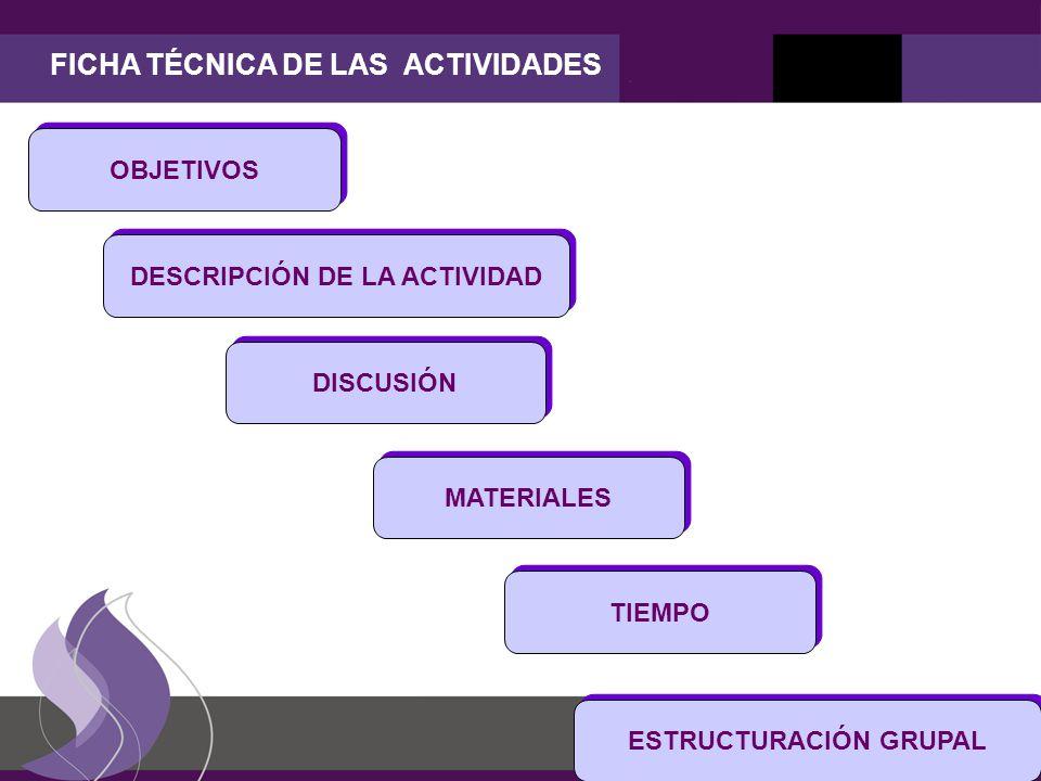 FICHA TÉCNICA DE LAS ACTIVIDADES