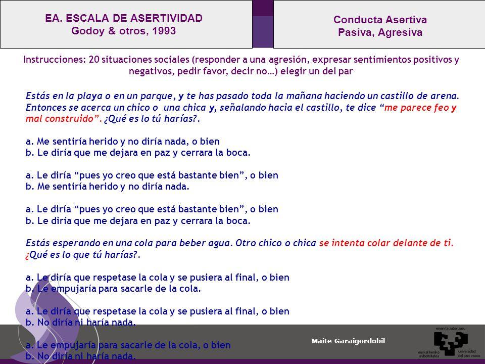 EA. ESCALA DE ASERTIVIDAD