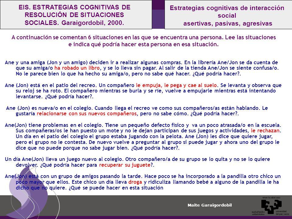 Estrategias cognitivas de interacción social