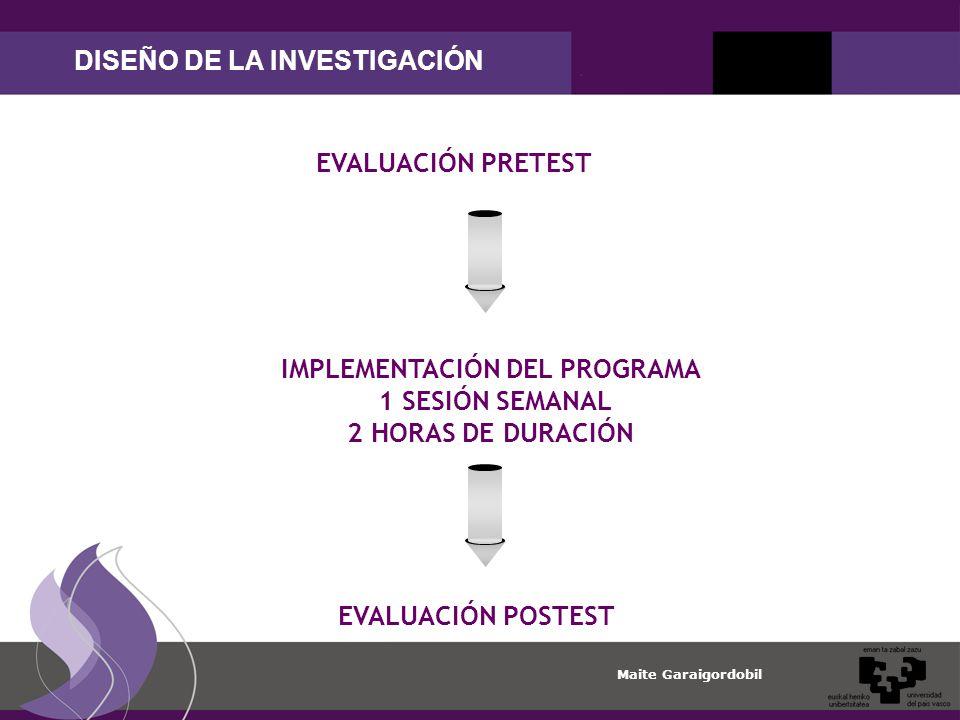 DISEÑO DE LA INVESTIGACIÓN IMPLEMENTACIÓN DEL PROGRAMA