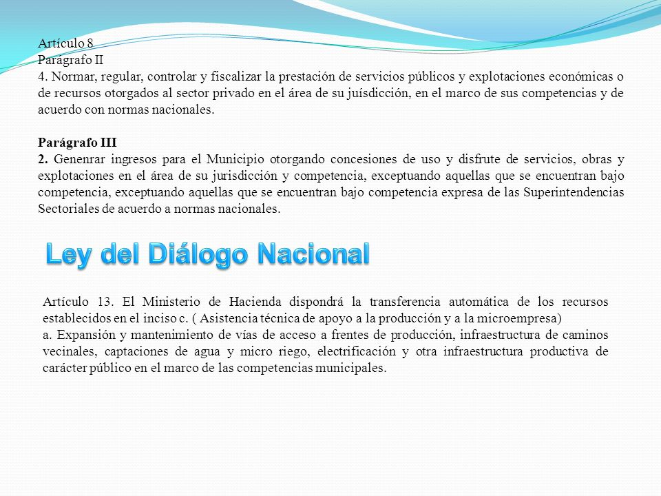 Ley del Diálogo Nacional