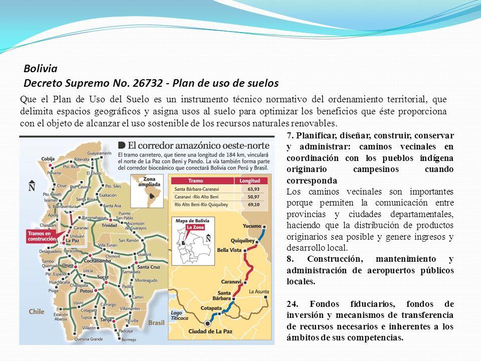 Bolivia Decreto Supremo No. 26732 - Plan de uso de suelos