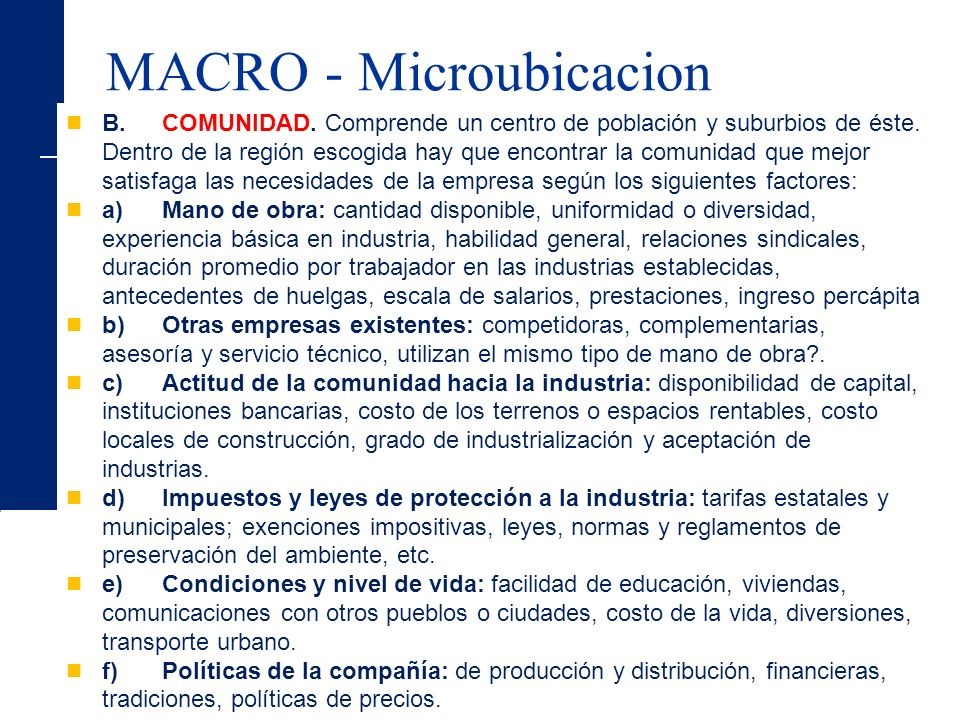 MACRO - Microubicacion