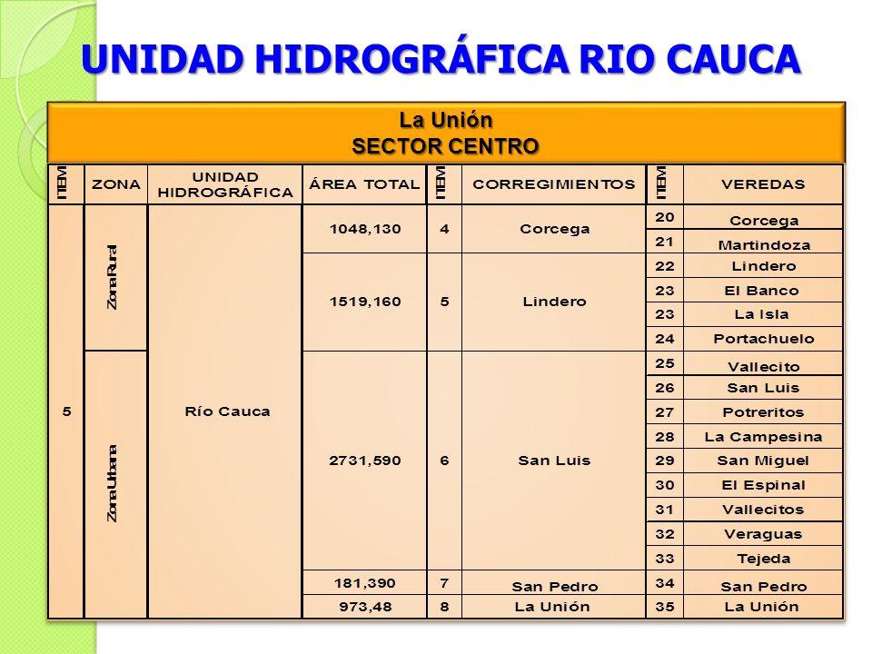UNIDAD HIDROGRÁFICA RIO CAUCA