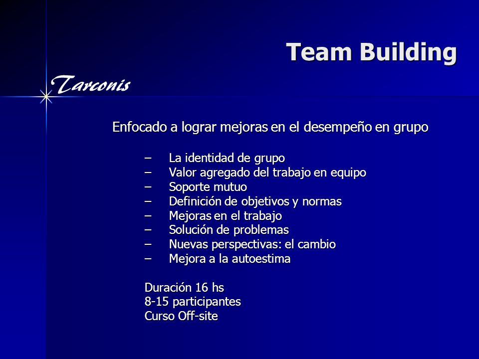 Team Building Enfocado a lograr mejoras en el desempeño en grupo