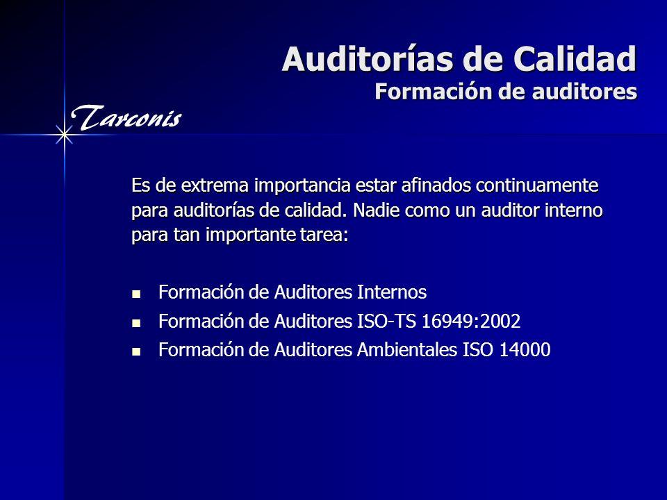 Auditorías de Calidad Formación de auditores