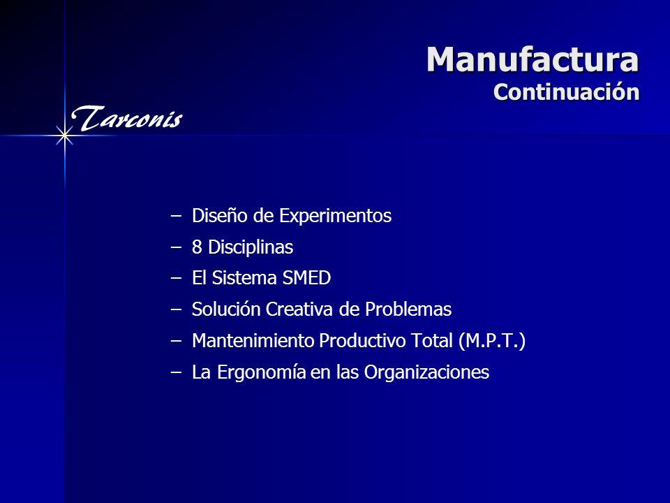 Manufactura Continuación