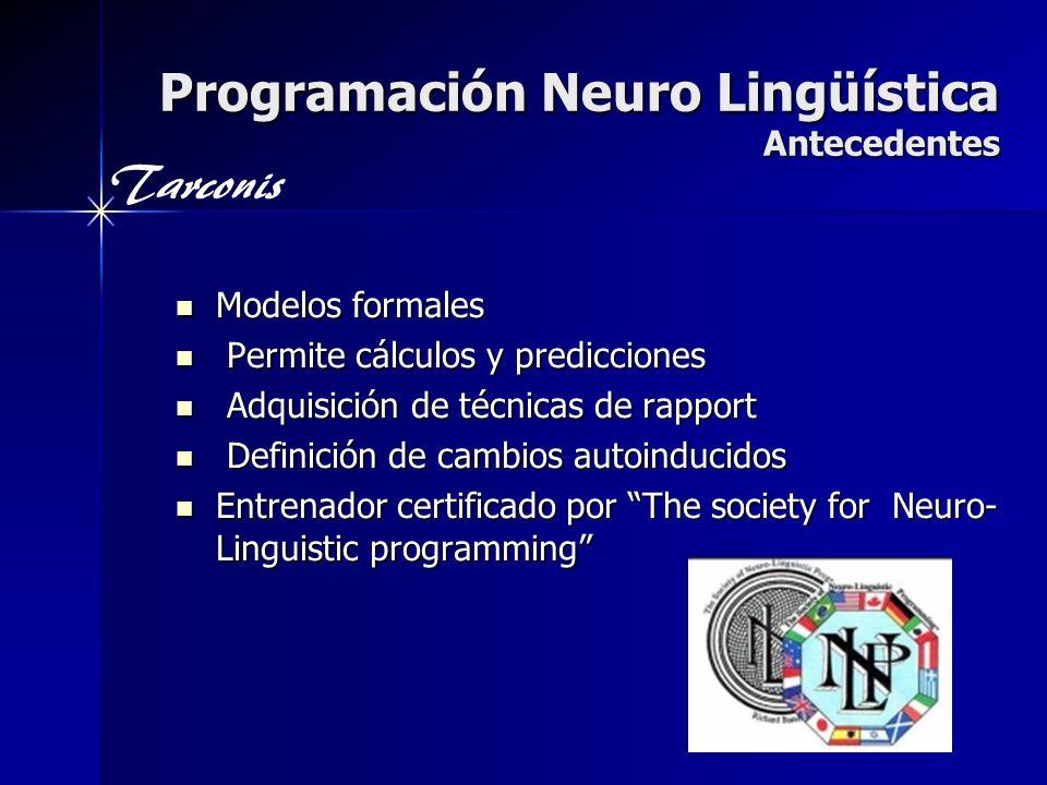 Programación Neuro Lingüística Antecedentes