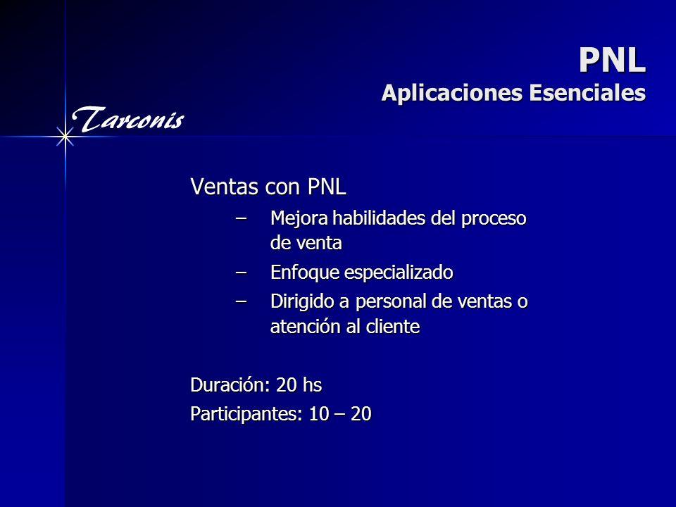 PNL Aplicaciones Esenciales