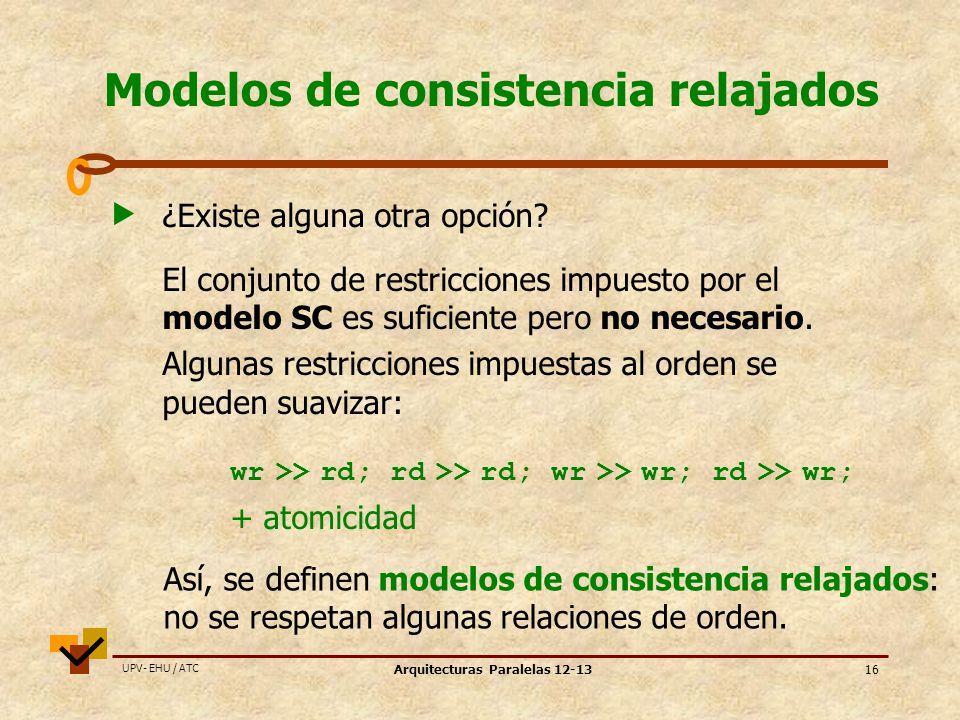 Modelos de consistencia relajados