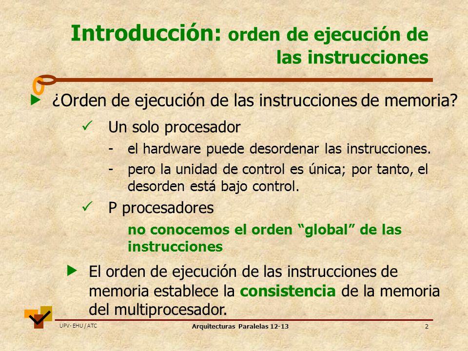 Introducción: orden de ejecución de las instrucciones