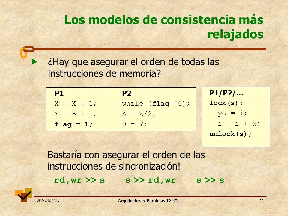Los modelos de consistencia más relajados