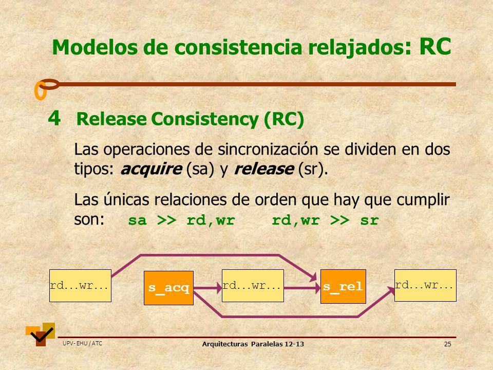 Modelos de consistencia relajados: RC