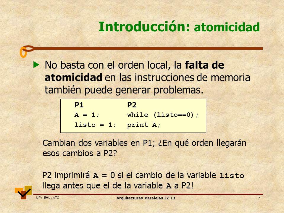 Introducción: atomicidad