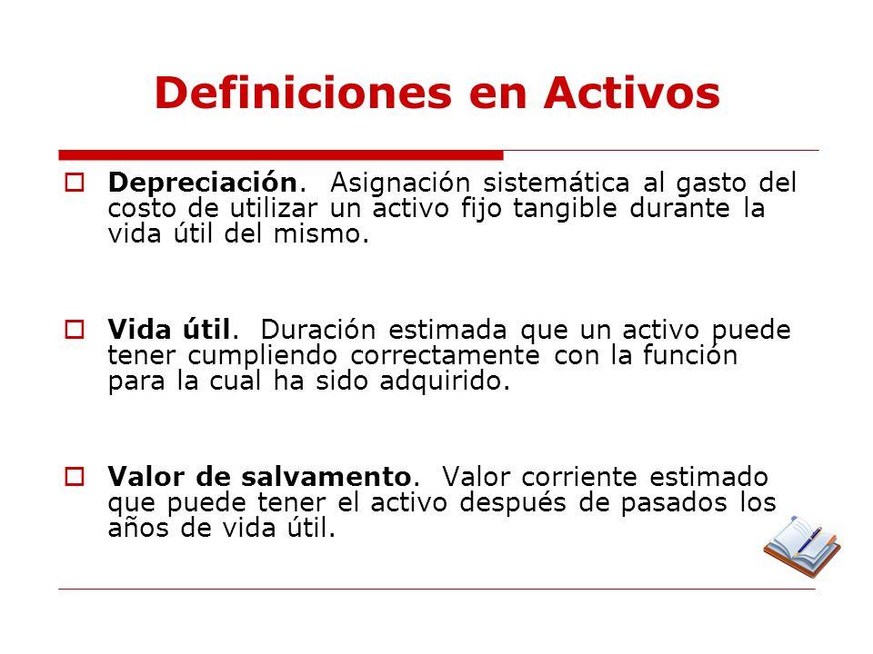 Definiciones en Activos