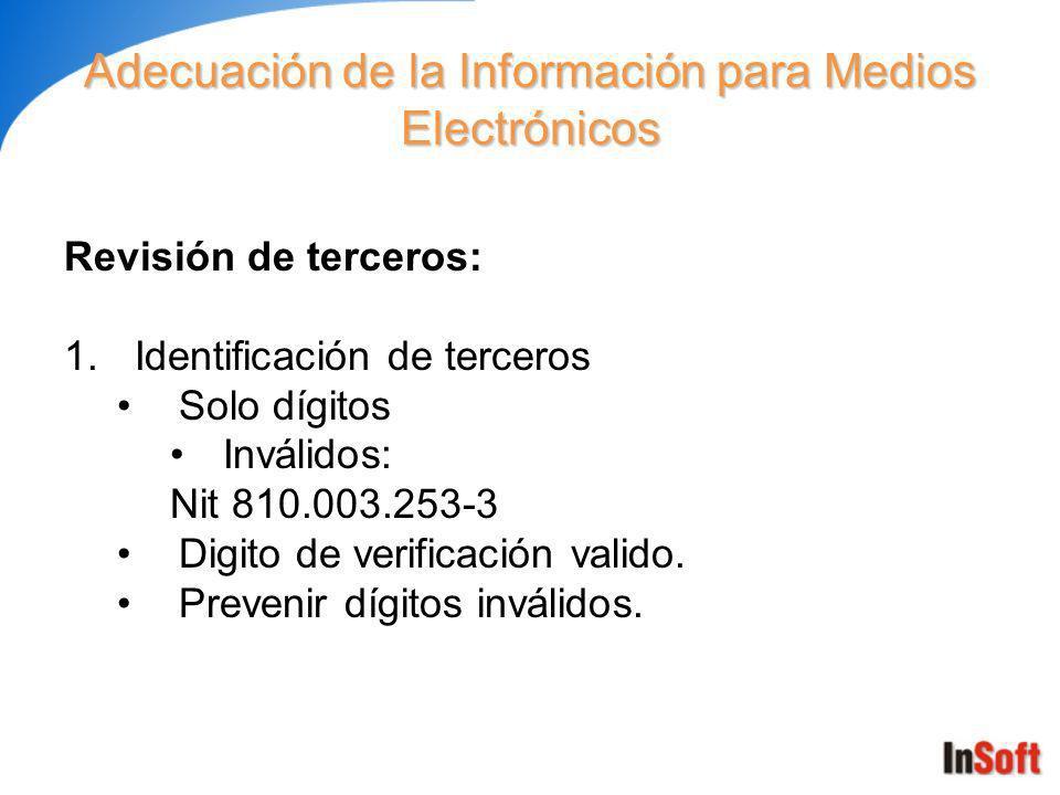Adecuación de la Información para Medios Electrónicos