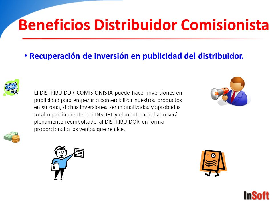 Beneficios Distribuidor Comisionista