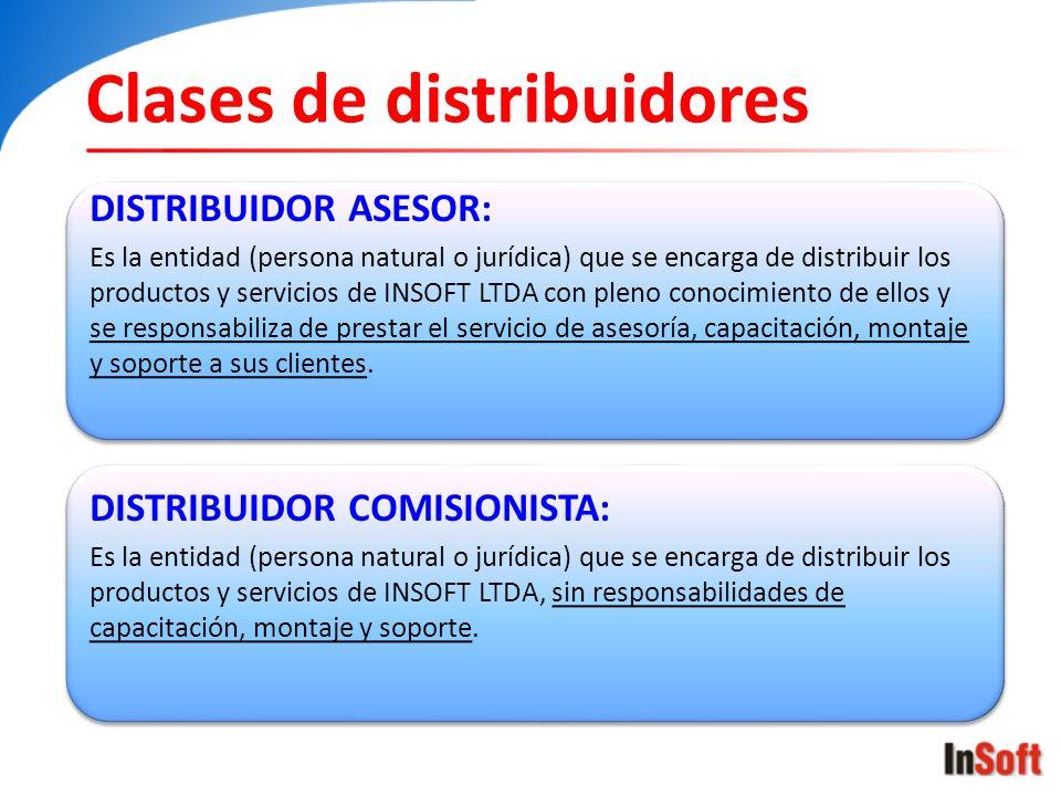 Clases de distribuidores
